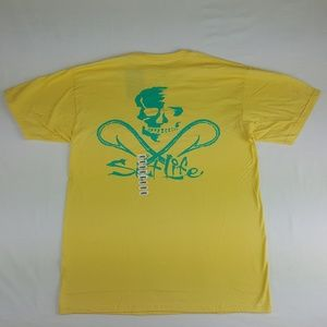 Salt Life Mens T-Shirt Size L Yellow AA21